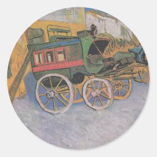 van Gogh - Tarascon Stagecoach (1888) Round Sticker