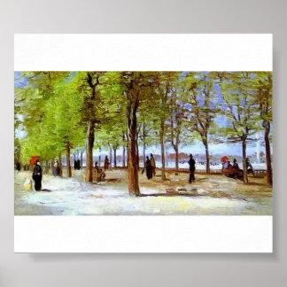Van Gogh - Terrace in the Luxembourg Garden Poster