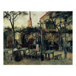 Van Gogh Terrace of a Cafe on Montmartre, Fine Art Poster