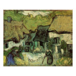 Van Gogh Thatched Cottage Jorgus, Vintage Fine Art Poster