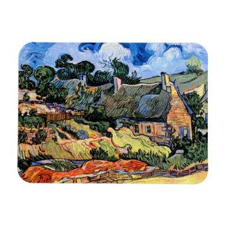 Van Gogh - Thatched Cottages At Cordeville Rectangular Photo Magnet
