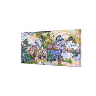 Van Gogh; Thatched Cottages by a Hill Canvas Prints