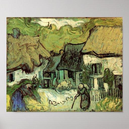 Van Gogh - Thatched Cottages in Jorgus Print