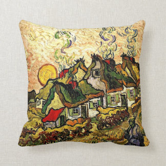 Van Gogh: Thatched Cottages in the Sunshine Cushion