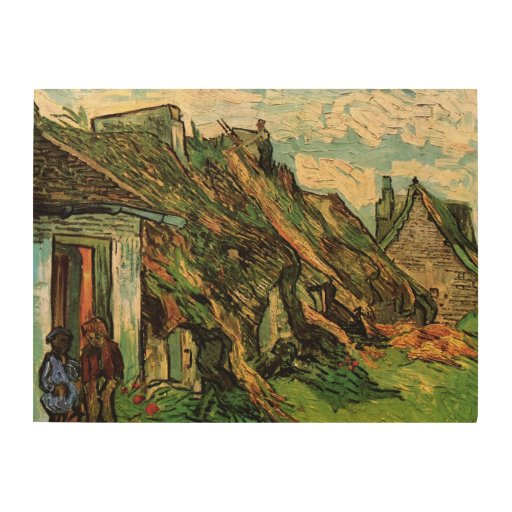 Van Gogh; Thatched Sandstone Cottages in Chaponval Wood Canvases
