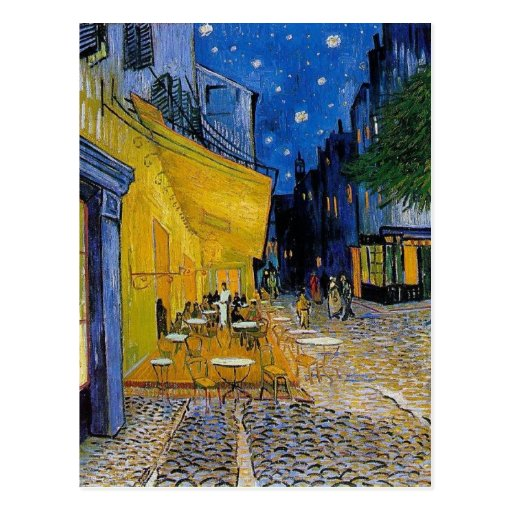 Van Gogh - The Cafe Terrace postcard