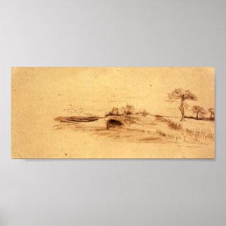 Van Gogh - The Cave of Machpelah Poster
