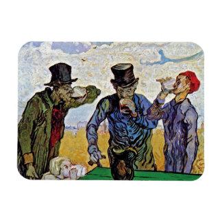 Van Gogh - The Drinkers Rectangular Photo Magnet