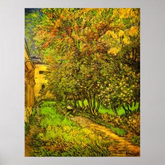 Van Gogh: The Garden of Saint-Paul Hospital Poster