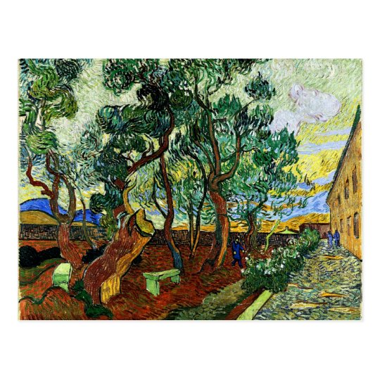 Van Gogh - The Garden of the Asylum Postcard