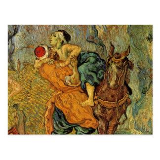 Van Gogh The Good Samaritan Vintage Impressionism Postcards