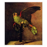 Van Gogh The Green Parrot Poster