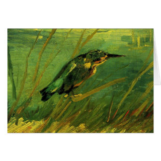 Van Gogh The Kingfisher, Vintage Impressionism Art Card