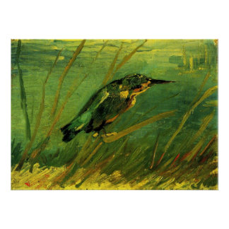 Van Gogh The Kingfisher, Vintage Impressionism Art Poster