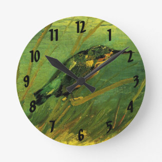 Van Gogh The Kingfisher, Vintage Impressionism Art Round Clock