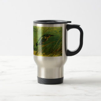 Van Gogh The Kingfisher, Vintage Impressionism Art Travel Mug
