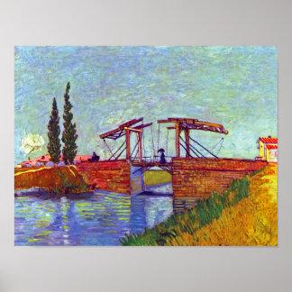 Van Gogh - The Langlois Bridge At Arles Poster