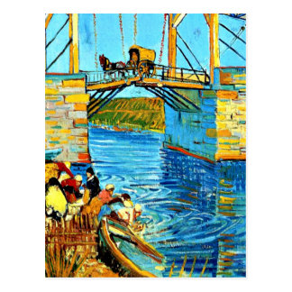 Van Gogh - The Langlois Bridge at Arles with Women Postcard