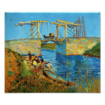 Van Gogh: The Langlois Bridge at Arles with Women Poster