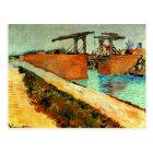 Van Gogh - The Langlois Bridge with Road Postcard