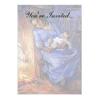 Van Gogh - The Man Is At Sea 13 Cm X 18 Cm Invitation Card