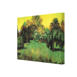 Van Gogh The Poet's Garden Vintage Nature Fine Art Gallery Wrapped Canvas
