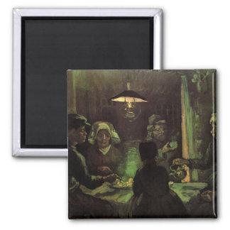 Van Gogh; The Potato Eaters, Vintage Impressionism Magnet
