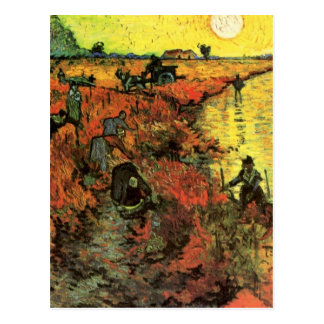 Van Gogh, The Red Vineyard, Vintage Impressionism Postcard