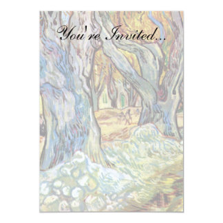 Van Gogh - The Road Menders 13 Cm X 18 Cm Invitation Card