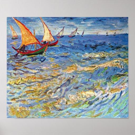 Van Gogh - The Sea At Saintes Maries Posters