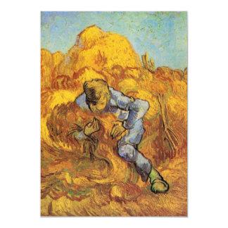 Van Gogh, The Sheaf Binder, Vintage Impressionism 5x7 Paper Invitation Card