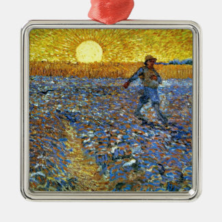 Van Gogh - The Sower Silver-Colored Square Decoration