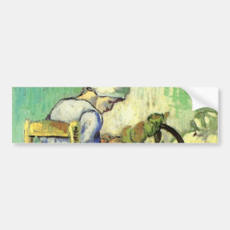 Van Gogh, The Spinner, Vintage Impressionism Art Bumper Sticker