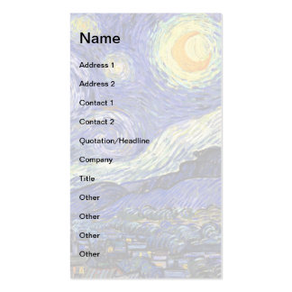 Van Gogh - The Starry Night Business Cards