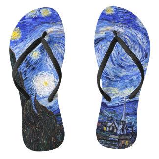 Van Gogh-The Starry Night Flip Flops