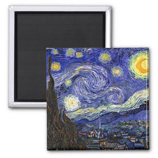 Van Gogh - The Starry Night Square Magnet