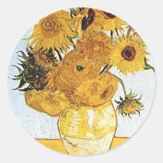 Van Gogh The Vase with 12 Sunflowers Sticker