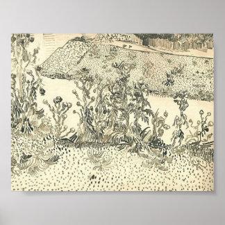 Van Gogh - Thistles Along the Roadside Poster