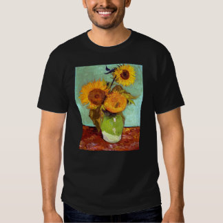 Van Gogh - Three Sunflowers In A Vase Tees