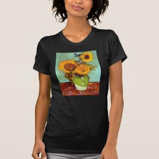 Van Gogh - Three Sunflowers In A Vase Tshirts
