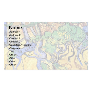 Van Gogh - Tree Roots And Trunks Business Card Template