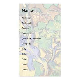 Van Gogh - Tree Roots And Trunks Double-Sided Standard Business Cards (Pack Of 100)