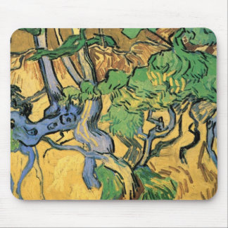Van Gogh Tree Roots and Trunks, Vintage Fine Art Mouse Pad