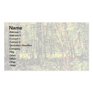 Van Gogh - Trees And Undergrowth Business Card Templates