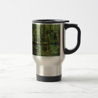 Van Gogh Trees and Undergrowth, Vintage Fine Art Travel Mug