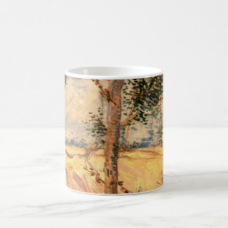 Van Gogh Trees in a Field on a Sunny Day Coffee Mug