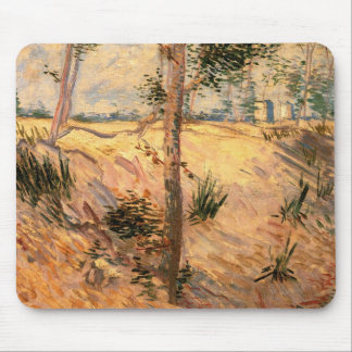 Van Gogh Trees in a Field on a Sunny Day Mouse Pad