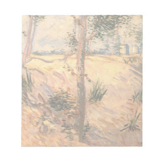 Van Gogh Trees in a Field on a Sunny Day Notepads