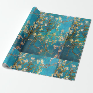 Van Gogh Turquoise Blossom Tree Wrapping Paper