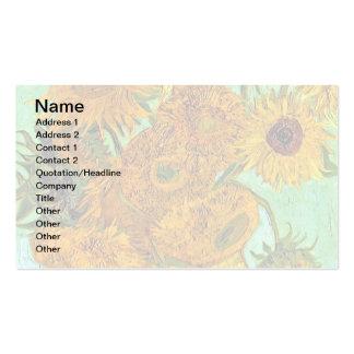 Van Gogh - Twelve Sunflowers Business Card Template